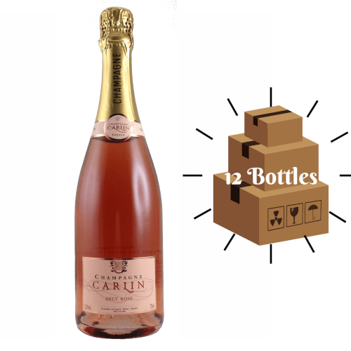 case of rose Champagne